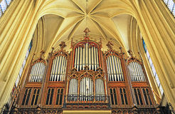 Antique organ in austrian catholic church Stock Photos