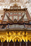 Antique Organ inside The Cathedral and former Great Mosque Stock Photography