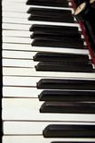 Antique organ keyboard Stock Image