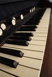 Antique organ keyboard Stock Images