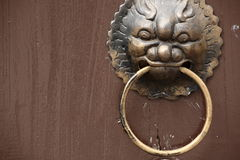 Antique oriental door knocker Stock Photos