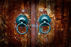 Antique oriental door knocker Stock Images