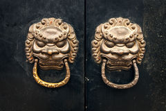 Antique oriental door knocker Royalty Free Stock Photography