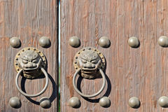 Antique oriental door knocker Royalty Free Stock Images