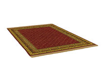 Antique oriental rug, 3D rendering Royalty Free Stock Images