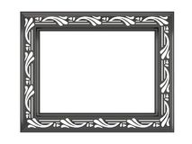 Antique ornamented picture frame isolated Stock Photography