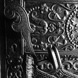 Antique ornate doorhandle Royalty Free Stock Photography
