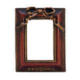 Antique ornate frame with white background. Stock Photo