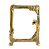 Antique ornate frame with white background. Royalty Free Stock Images