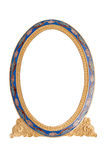 Antique ornate frame with white background. Royalty Free Stock Photography