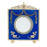Antique ornate frame with white background. Stock Images