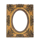 Antique ornate frame with white background. Royalty Free Stock Photo