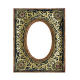 Antique ornate frame with white background. Royalty Free Stock Photos