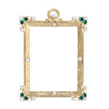Antique ornate frame with white background. Stock Image