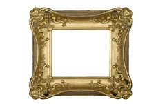 Antique ornate gold picture frame Royalty Free Stock Photo