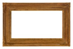 Antique Ornate Wooden Frame for Photos and Art royalty free stock image