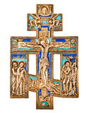 Antique orthodox brass cross Stock Image