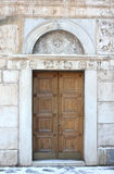 Antique Orthodox Church Door Stock Photography