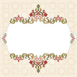 Antique Ottoman borders and frames series sixty nine Stock Photography