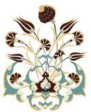 Antique ottoman bouquet design vector illustration