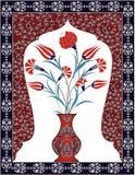 Antique ottoman bouquet design Royalty Free Stock Images