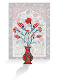 Antique ottoman bouquet design Royalty Free Stock Images