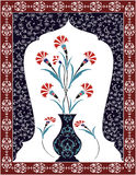 Antique ottoman bouquet design Stock Images