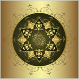 Antique ottoman gold design royalty free illustration