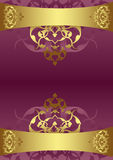 Antique ottoman gold design Stock Images