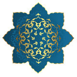 Antique ottoman gold design Royalty Free Stock Image