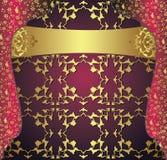 Antique ottoman gold design Stock Photo