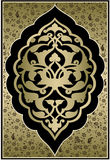 Antique ottoman gold design Stock Images