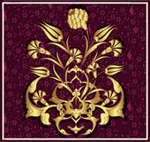 Antique ottoman gold design Royalty Free Stock Images