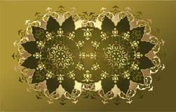 Antique ottoman gold design Royalty Free Stock Photos