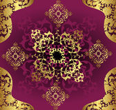 Antique ottoman gold design Stock Image