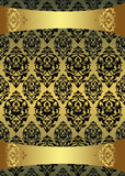 Antique ottoman gold design Stock Photos