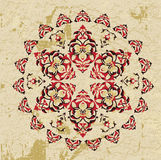 Antique ottoman grungy wallpaper raster design Royalty Free Stock Photography