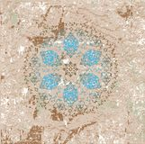 Antique ottoman grungy wallpaper raster design Royalty Free Stock Image