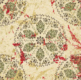 Antique ottoman grungy wallpaper raster design Stock Photography