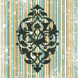 Antique Ottoman Grungy Wallpaper Raster Design Stock Images