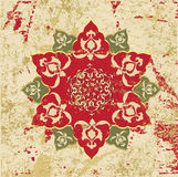 Antique ottoman grungy wallpaper raster design Royalty Free Stock Images