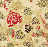 Antique ottoman grungy wallpaper raster design Royalty Free Stock Photos