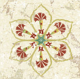 Antique ottoman grungy wallpaper rater design Stock Image