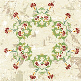 Antique ottoman grungy wallpaper rater design Stock Photography