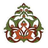 Antique ottoman illustration design. Traditional antique ottoman turkish tile illustration design Royalty Free Stock Photo