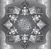 Antique ottoman metallic design Royalty Free Stock Image