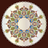Antique ottoman turkish pattern vector design eighty one Stock Images