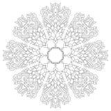 Antique ottoman turkish pattern vector design nineteen. Linear antique ottoman turkish design pattern vector Stock Image