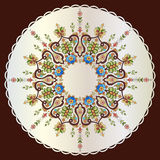 Antique ottoman turkish pattern vector design seventy nine Stock Images