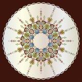 Antique ottoman turkish pattern vector design seventy seven Royalty Free Stock Photos